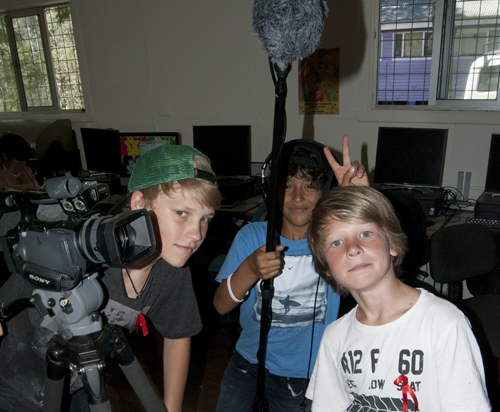 an Enthusiastic Film Crew